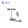Portable vehicle-mounted led light tower mast for emergency lighting