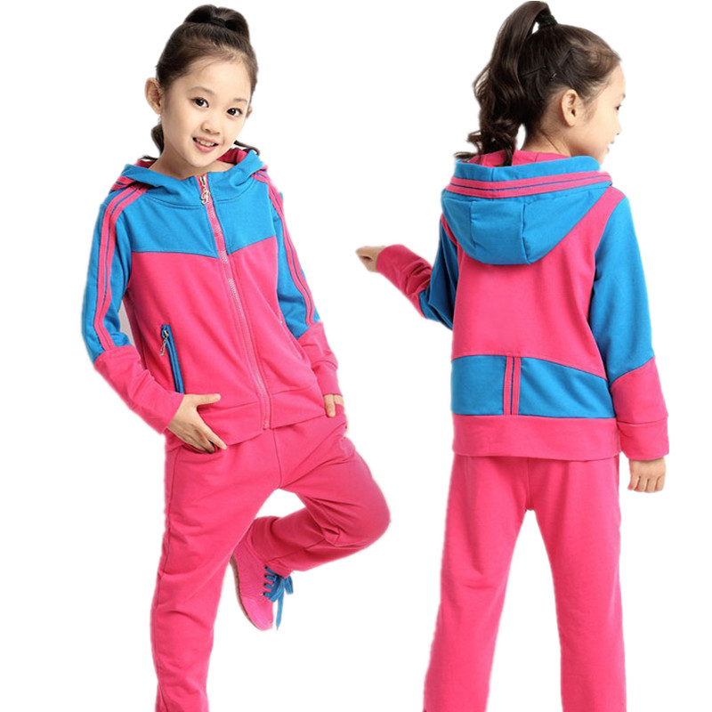 0f9365f5b Get Quotations · 2015 Spring Fall Unisex Clothing Sets Children Boys Girls  Kids Brand Sport Suits Tracksuits Cotton Long