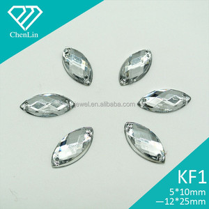KF1 marquise navette 7*15 9*20 flat back sew on acrylic rhinestones for fashion decoration, craft making, garment accessories