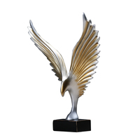 simple style eagle open wings statue