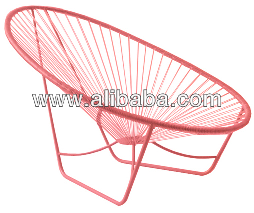 Garden chair with rattan synthetic and iron frame