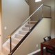 Indoor Stair Case With Terrace Stainless Steel Cable Railing Systems