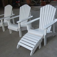 Factory High Quality Adirondack Chair Wood With Cup Holder And ...
