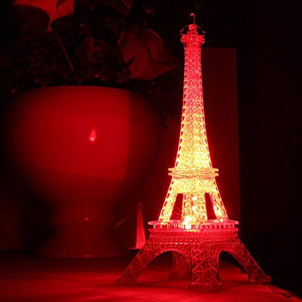 Hongxin Led Night Light, Romantic Eiffel Tower LED Night Light Lamp Desk Table Home Bedroom Nursing Room Decorate Gift