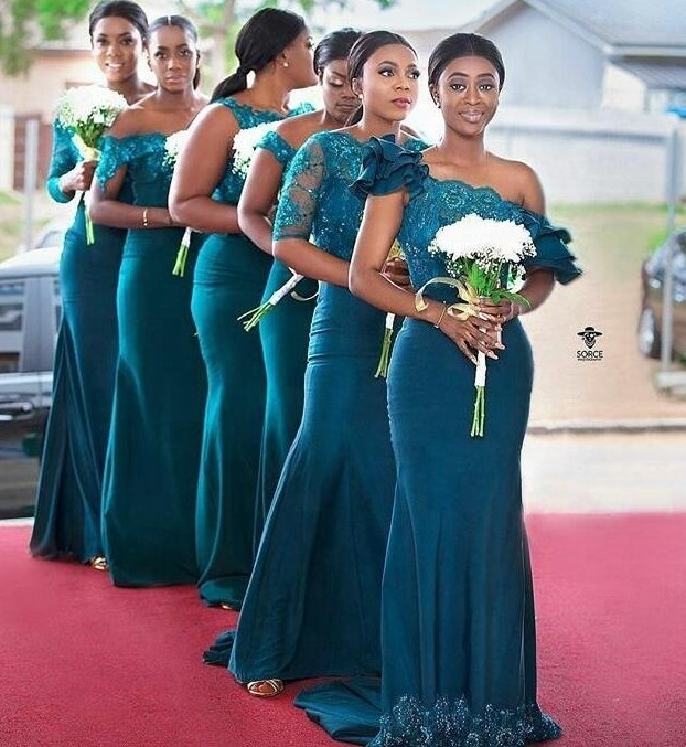 Latest Patterns Convertible Infinity Teal Mermaid Bridesmaid Dress