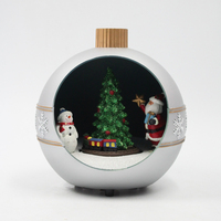 LED music Moving Christmas Ball Resin craft Xmas ball decoration tree ornament