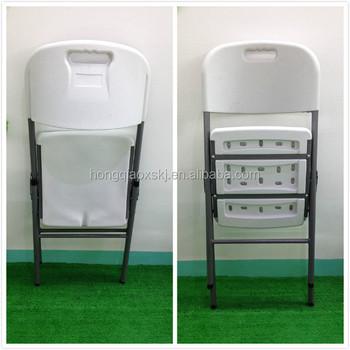 Moule De Soufflage Pe Solide Chaise Pliante/jardin Camping Barbecue  Chaise/design Moderne Simple Structure Chaises Blanches Pour Extérieur Et  ...
