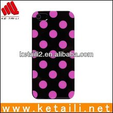Glossy Polka Dot GEL TPU Case Cover For iPhone 5 5G 5th Pink&White Spot
