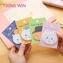 Kreative cartoon katze geformt papier sticky notes