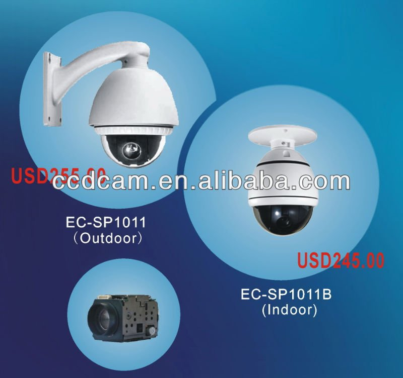 1/4 Inch SONY EXview HAD CCD indoor/outdoor cctv high speed dome camera