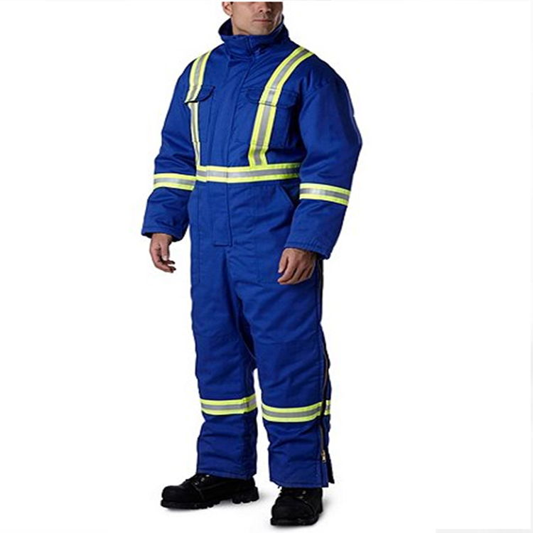 Men's Winter Cotton FR Industrial Reflective Safety Coveralls