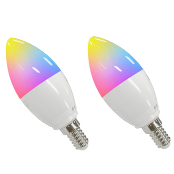 New design 5W RGB+C+W tuya WIFI smart light bulb wroks with Amazon alexa&google assistant