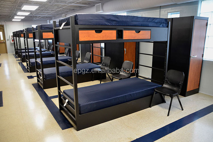 College School Furniture Dormitory Student Double Deck Bed/With Two Drawer Metal Bunk Bed/Steel Bunk Bed Prices