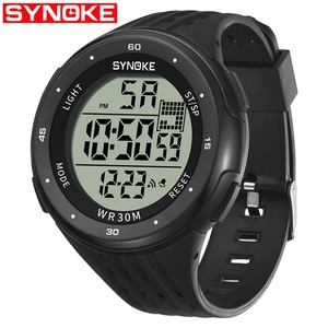 SYNOKE 9007 LCD Display Digital Watch Relogio Masculino Men Wrist Watch