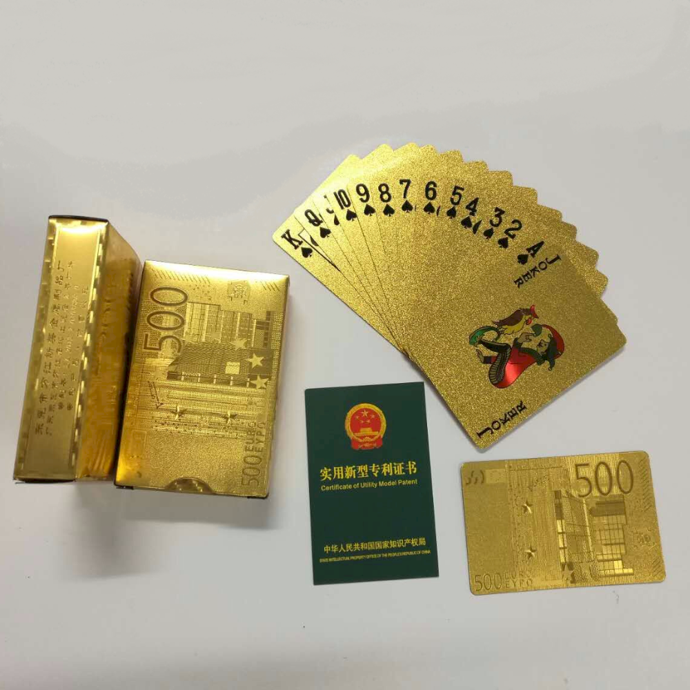Gold foil playing cards 88*65mm latest buniess promotional gift items souvenir gifts OEM