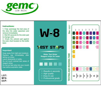 Home water bacteria test strips for escherichia coli