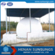 Methane gas storage tank for waste-water disposal plant