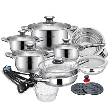 Royalty Line Stainless Steel Palm Restaurant Cookware Set Kitchen Pots And Pans Buy Kitchen Art Pan Stainless Steel Cookware Set Industrial Pots And
