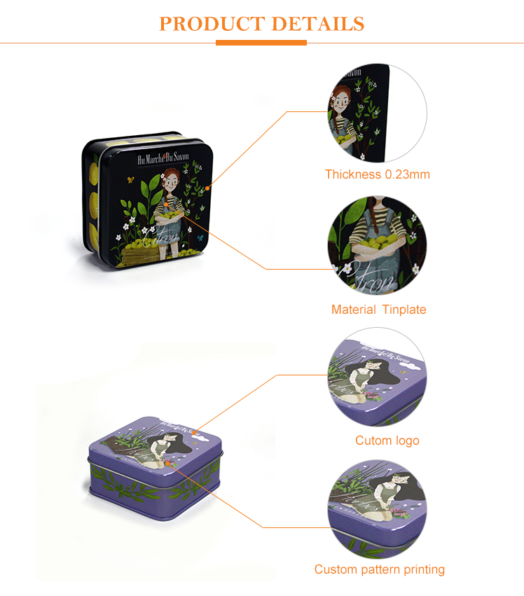 Luxury Gift Box For Soap Tin Case For Packaging