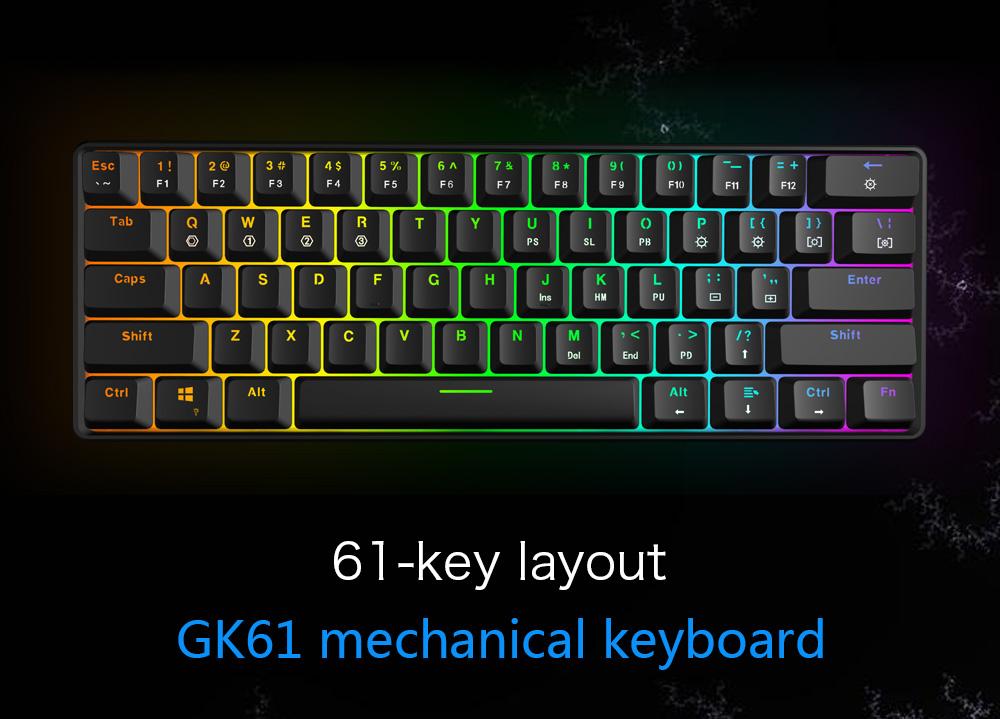 Hot Sell Gk61 61keys Rgb Gaming Mechanical Keyboard Buy