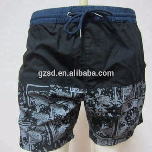 OEM new design fashionable High quality casual cotton elastic force printing shorts for men