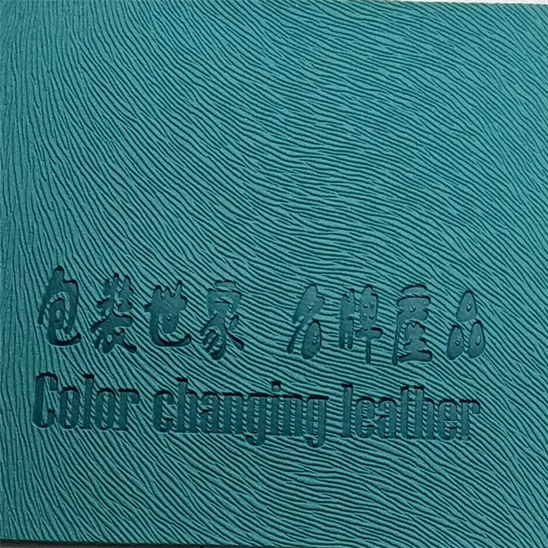Logo Color change Thermo pu <strong>leather</strong> and Hot Stamping for Notebook Cover