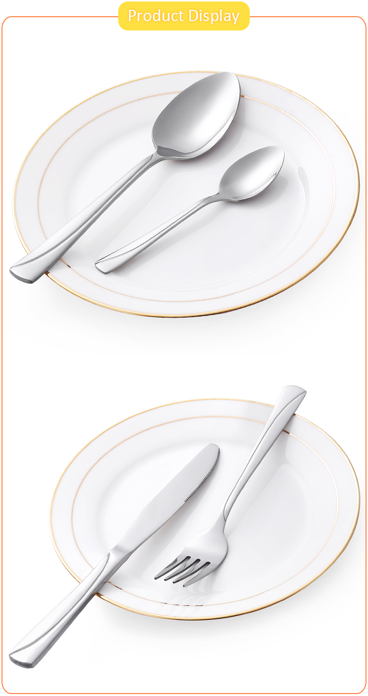 Hot Sale Decorative Vintage Simple Stainless Steel Cutlery Set Wedding