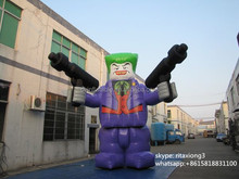inflatable cartoon characters , purple cartoon characters,tall cartoon characters