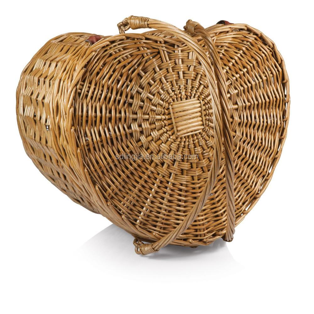 coeur style naturel cadeau plage pique nique en osier panier pique nique panier de fruits. Black Bedroom Furniture Sets. Home Design Ideas