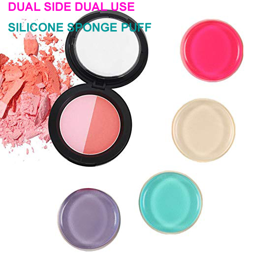 dual use round Makeup Sponge puff Silicone Applicator puff makeup sponge