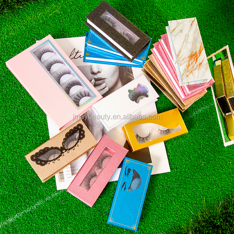 Create Your Own Brand Eyelash Book Private Label 3D Mink Eyelash Packaging Custom LOGO Lash Box