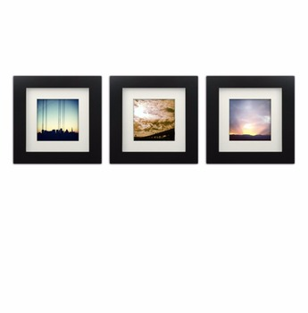 Handmade Wholesale Square White & Black Small Picture Frame 6x6 Inch ...
