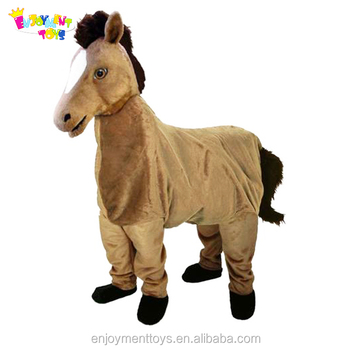 Enjoyment CE adult two person wear mascot costumes 2 person horse costume for sale EM-310