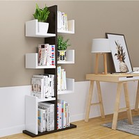 Modern Brief Wooden Tree Shape Bookcase/Bookshelf Living Room Furniture for Students, Kids