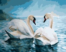 GX 7648 hot photo canvas oil painting swan for home decor