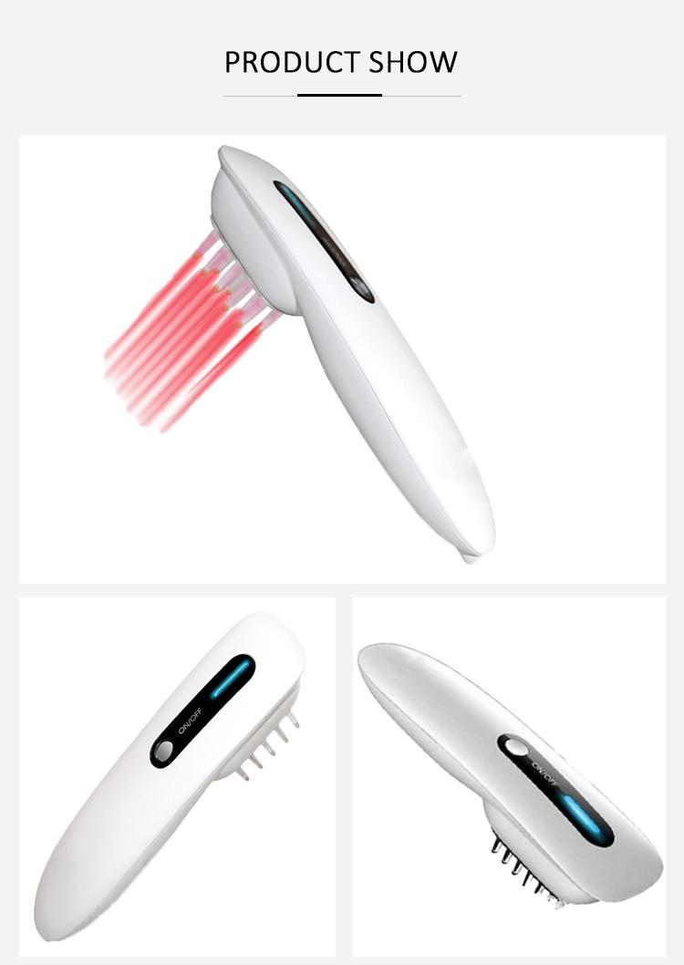 Cina visa lllt uso domestico massager dei capelli la crescita dei capelli pettine laser per la perdita dei capelli