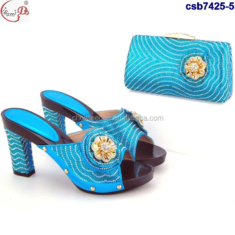 italian Bag bag Sets shoes nigeria Shoes set and african 4 matching and csb7425 X0qgaxS