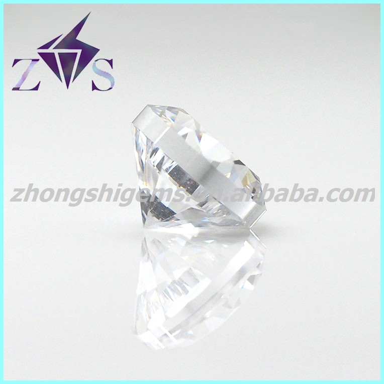 Machine Cut 40% Heavy Thick Girdle CZ stones with high quantity