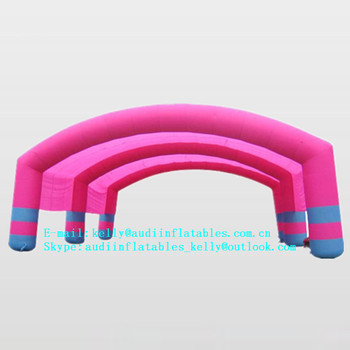 New Style Inflatable Arch Tunnel Inflated Rainbow Door Inflatable Shed Tent for Sale