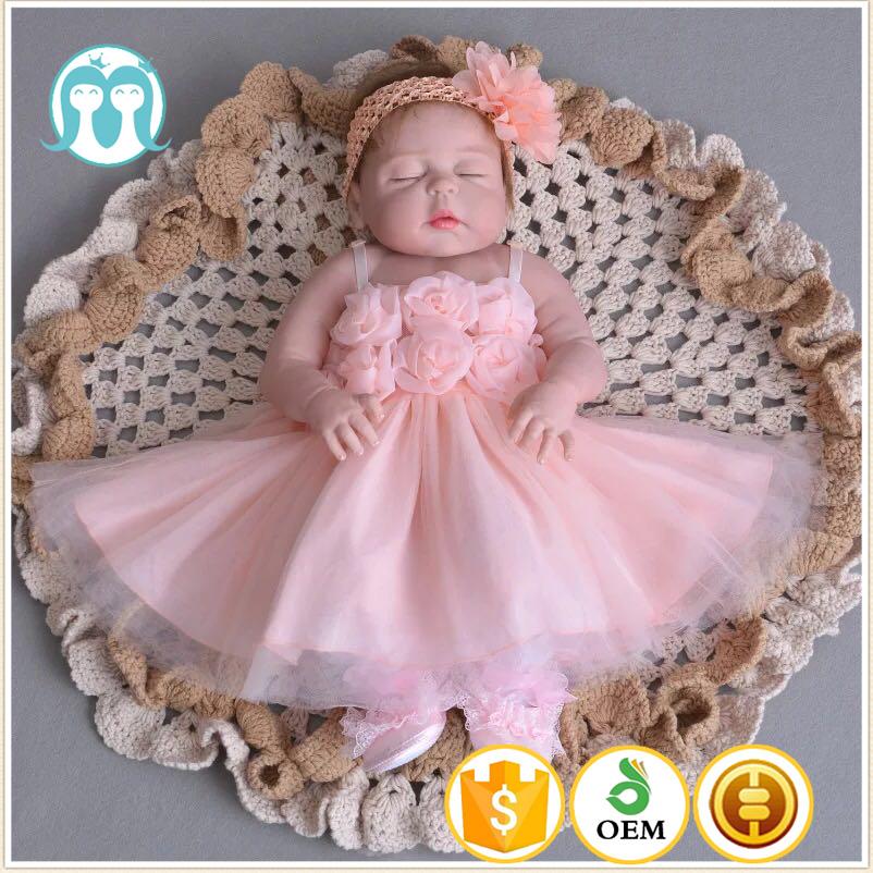 2017 Top Qualité Enfants Nouveau Modèle Bébé 1 Ans Anniversaire Fleur Rose Robes De Soirée Blanc Mignon Filles Première Sainte Robe De Communion