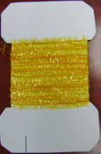 Fly Tying Tackle Cactus Chenille YELLOW Fly Tying Materials on card