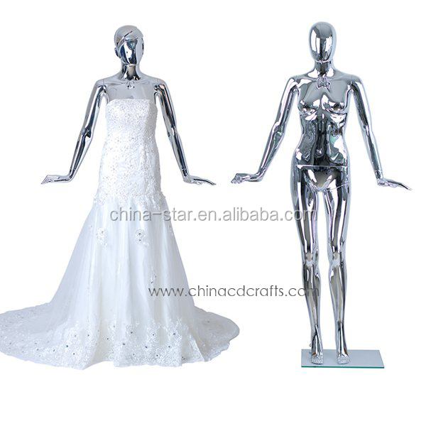 hot sale new style plastic silver chroming plastic mannequin