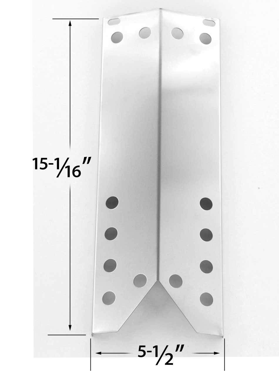 Stainless Steel Heat Shield for Kenmore 122.16431010, 122.16538900, 122.16539900, 122.16641900, 16539, 16641, 640-26629611-0, 640-82960811 and Grill Master 720-0670E Gas Models