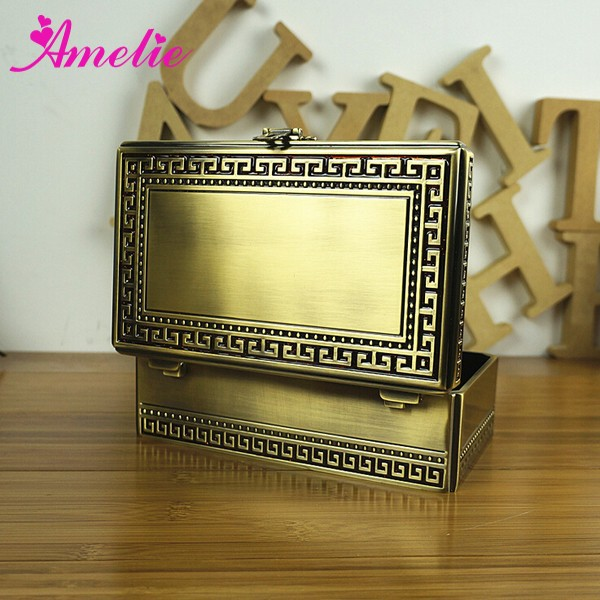 A6950ABEK Wholesale Antique Brass Custom Logo Printed Jewelry Boxes