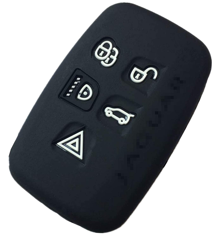 Silicone Keyless Entry Remote Control Car Key Fob Shell protector For 2010 2011 2012 2013 Jaguar XJ 2010 2011 Jaguar XJL 2009 2010 2011 2012 2013 2014 Jaguar XF