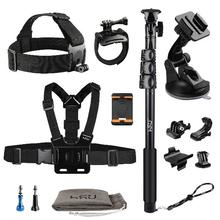 Hot Selling Go Pro Accessories Set 13-in-1 Kit with Camera Head Chest Strap Mount and Selfie Stick