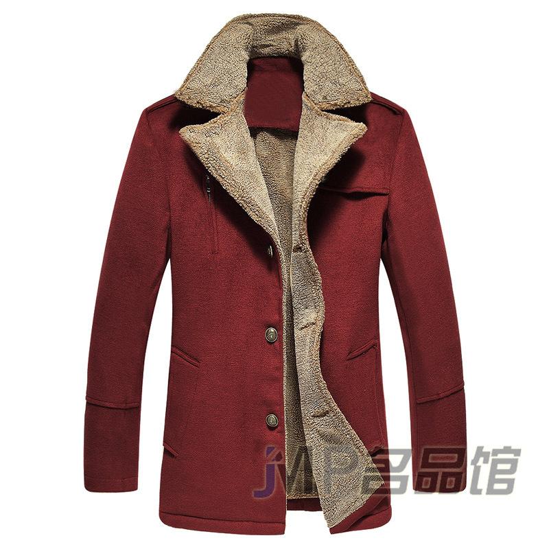 653493f7d67 Get Quotations · New Arrival 2015 Brand Winter Mens Wool Overcoat Coats  Mens Thicken Pea Coats Warm High Quality