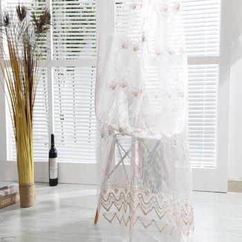 luxe europese stijl strook koord borduurwerk voile gordijnen en stoffering voor decoratie