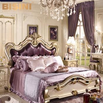 Bisini European Styled Wedding Decoration Luxury Bedroom Set Princess Furniture