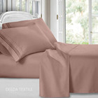 Deeda textile 1800 Thread Count Egyptian Cotton Sheet Set/ Microfiber Bed Sheets